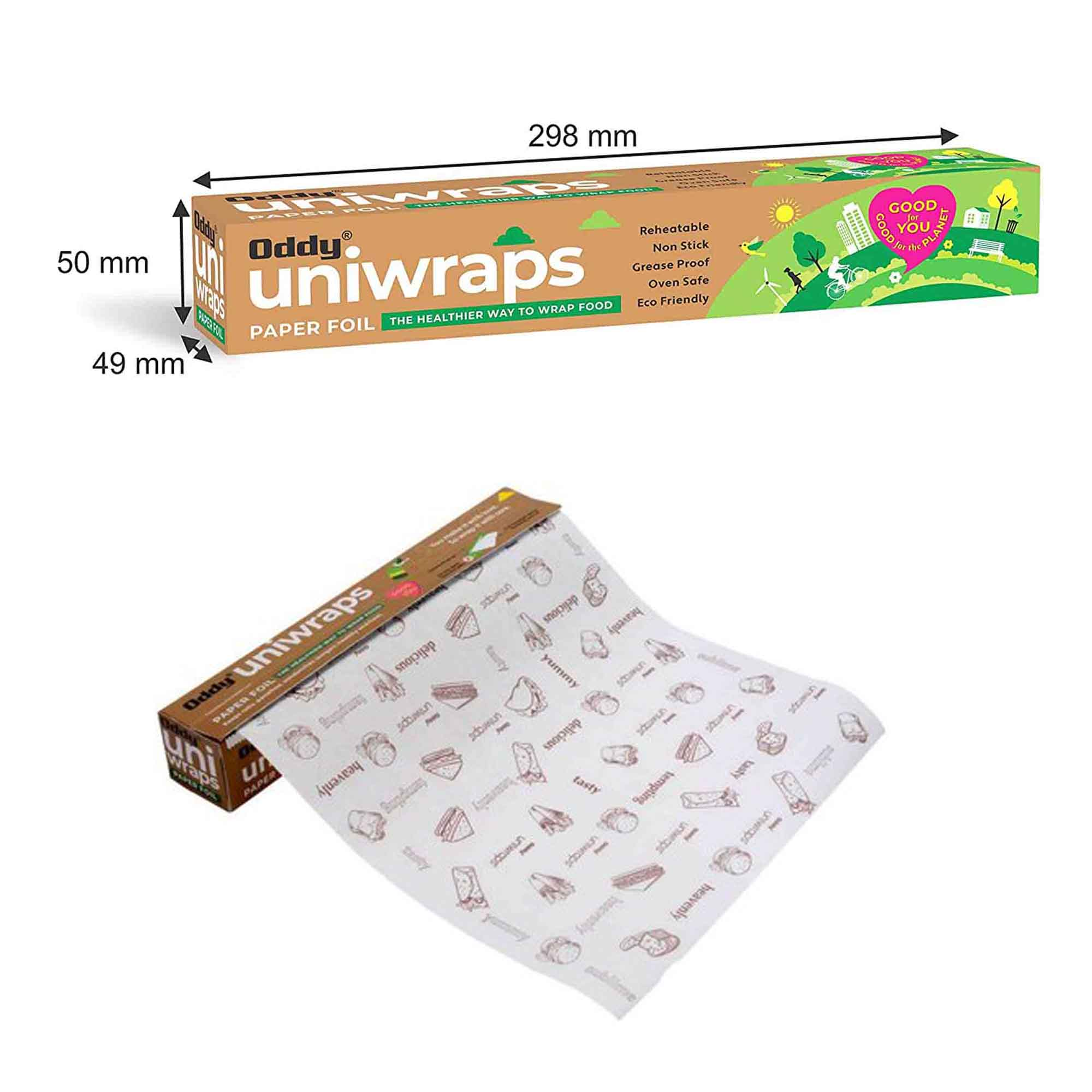 ODDY UNIWRAPS FOOD WRAPPING FOIL 20 MTR. SINGLE PACK
