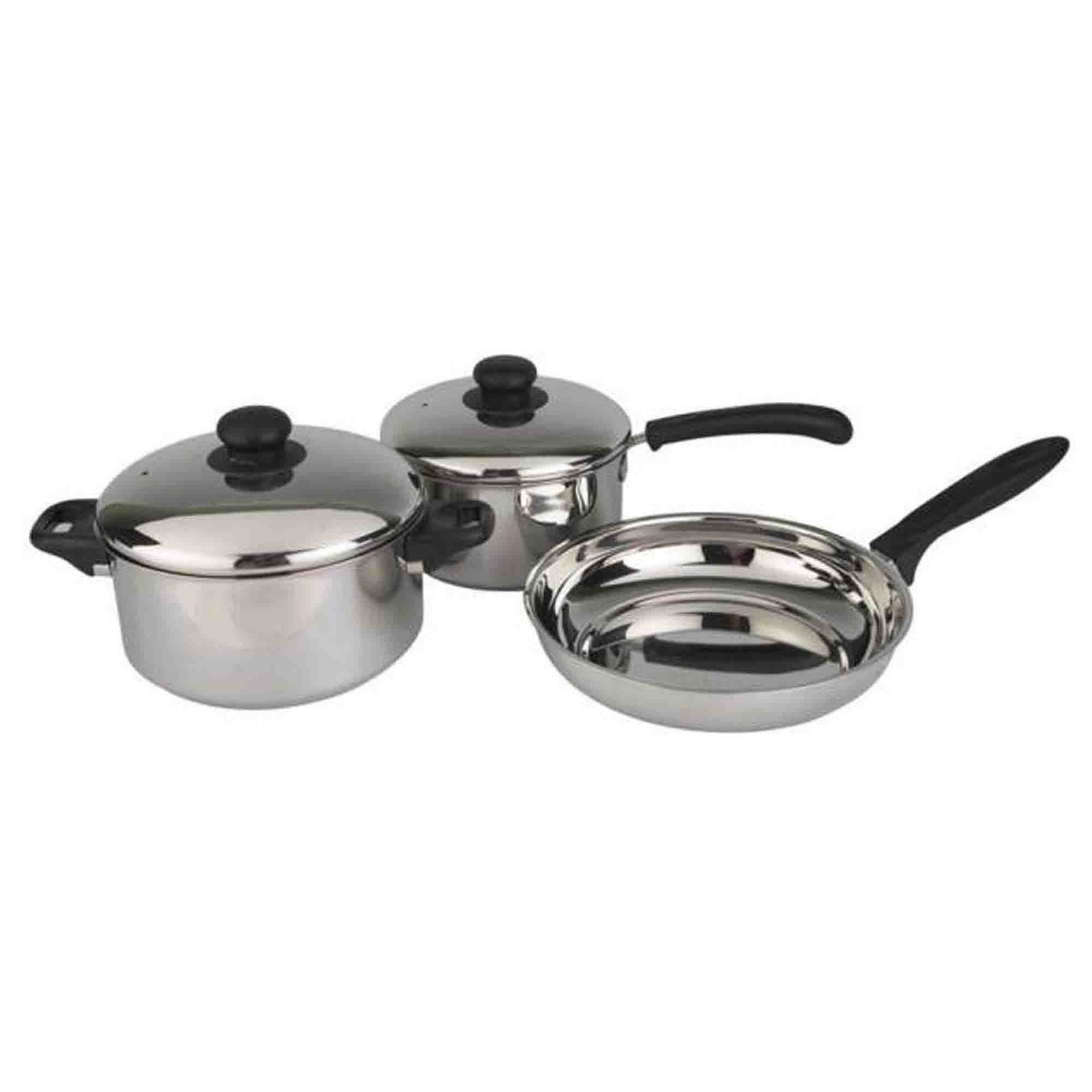SAIL SALEM 3 Piece Sauce Pan & Fry Pan Set