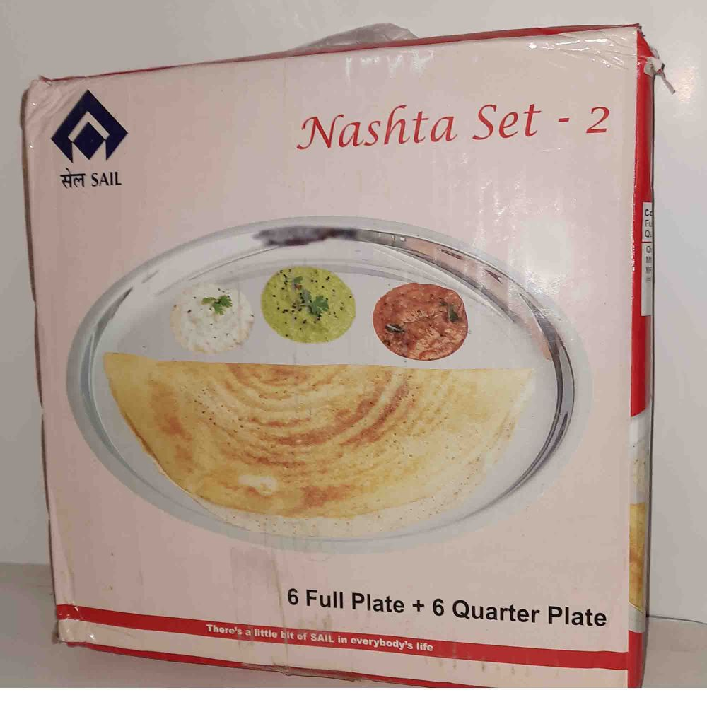 SAIL SALEM 12 Pc Nashta Set - 2 ( Full Plate & Quarter Plate)