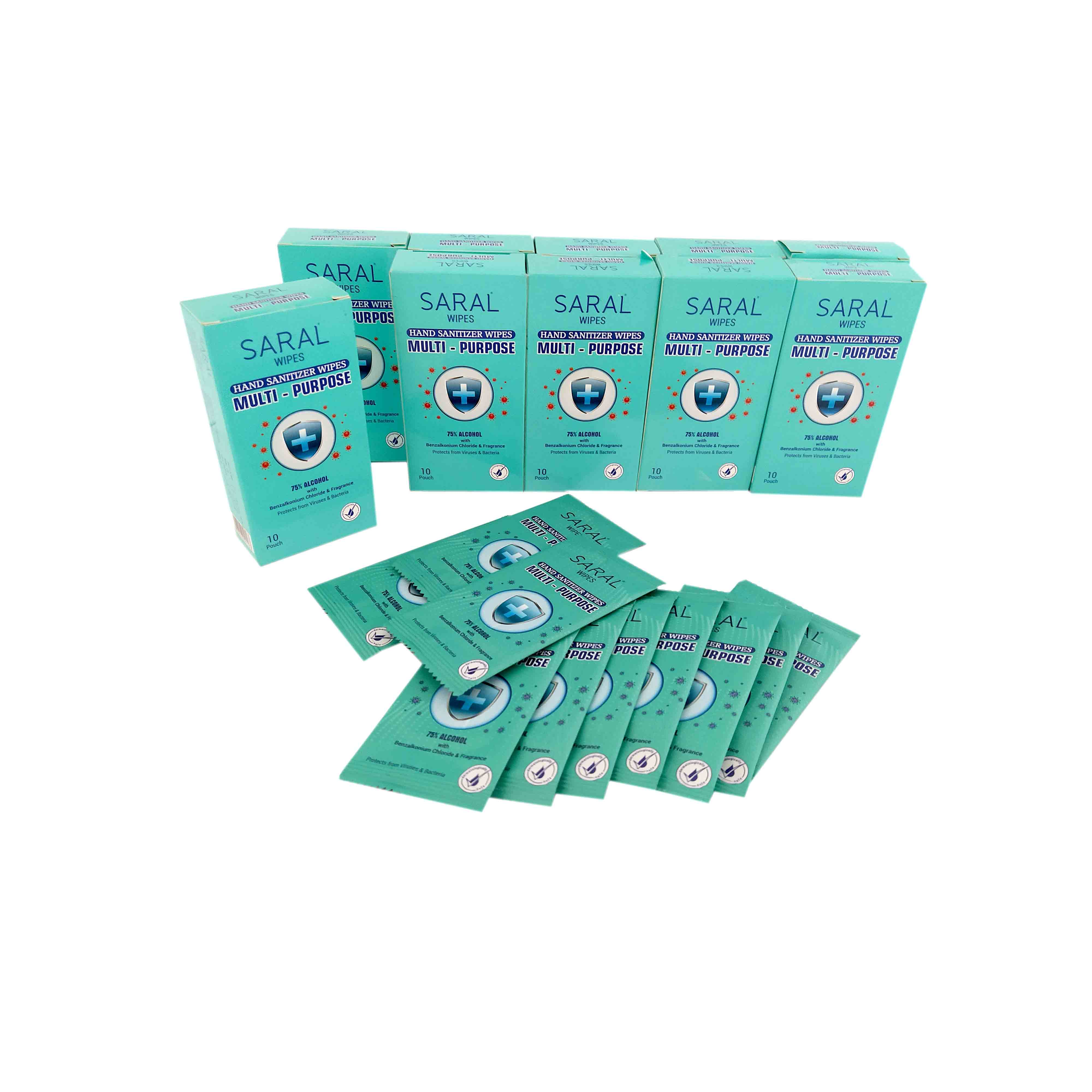 Saral Hand Sanitizer Wipes