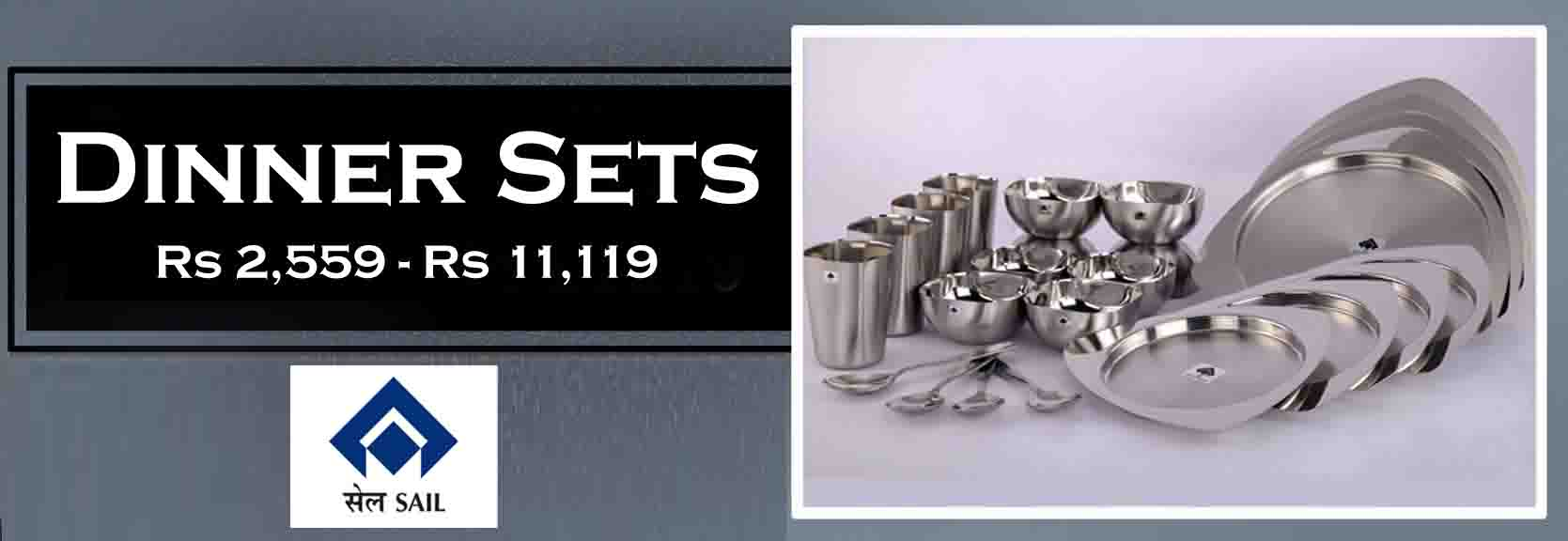 SAIL SALEM STAINLESS Stainless Steel Dinner Set