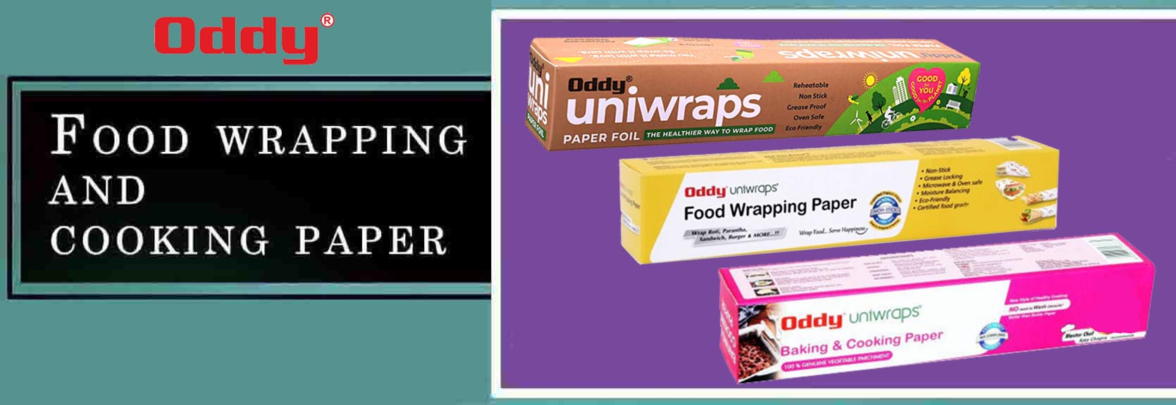 ODDY Food Wrapping and Cooking Paper
